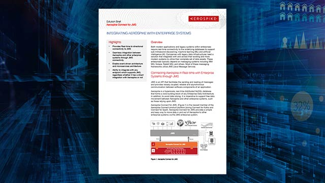 Aerospike Connect for JMS Solution Brief