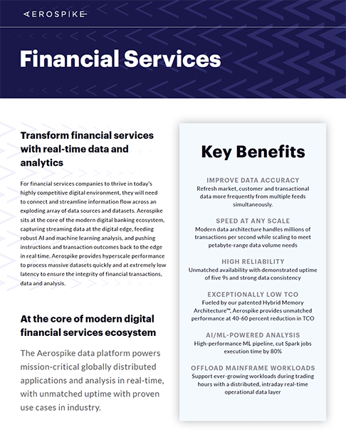 Financial Services solution brief thumbnail