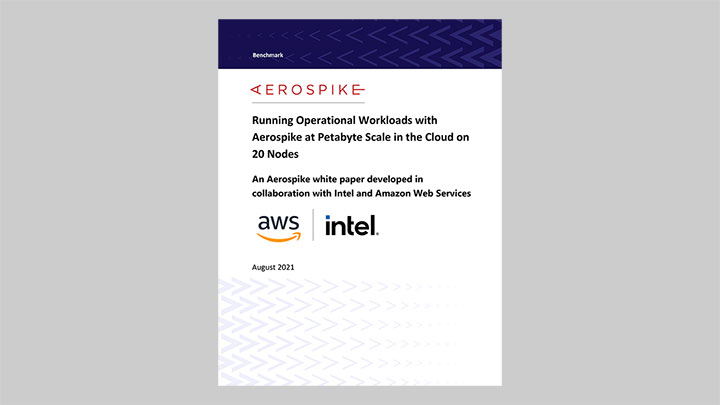 Running Operational Workloads with Aerospike at Petabyte Scale in the Cloud on 20 Nodes